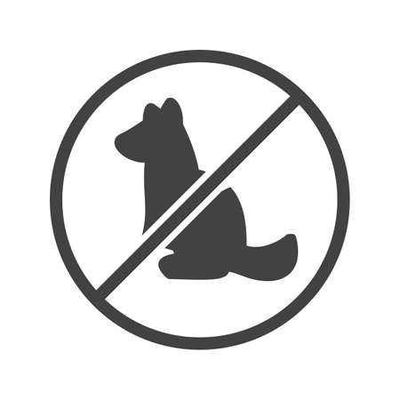 no image: No, sign, pet icon vector image. Can also be used for hotel and restaurant. Suitable for web apps, mobile apps and print media.