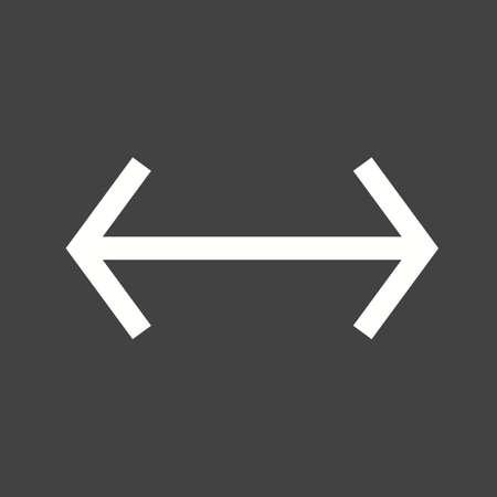flechas direccion: Arrow, izquierda, imagen del vector icono de la derecha. También se puede utilizar para las flechas. Adecuado para aplicaciones móviles, aplicaciones web y medios impresos.
