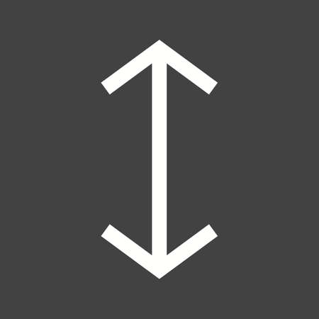 Arrow, up, pictogram vector beeld omlaag. Ook geschikt voor pijlen. Geschikt voor mobiele apps, web apps en gedrukte media. Stock Illustratie