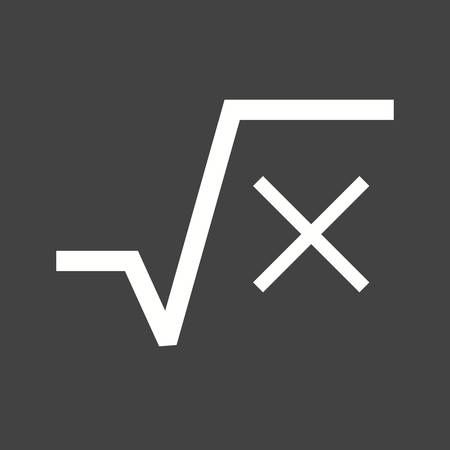 square root: Square, root, equation icon vector image. Can also be used for education and science. Suitable for use on web apps, mobile apps and print media.
