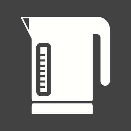 electric tea kettle: Kettle, electric, tea icon vector image.Can also be used for food iconset. Suitable for mobile apps, web apps and print media. Illustration