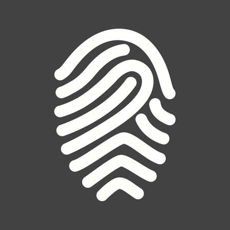 fingermark: Fingerprint, print, unique icon vector image.Can also be used for office. Suitable for mobile apps, web apps and print media.