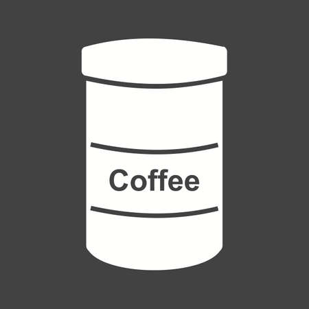 coffee jar: Coffee, bottle, jar icon vector image. Can also be used for food iconset. Suitable for use on web apps, mobile apps and print media.