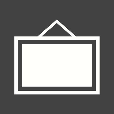 Noticeboard, hoarding, board icon vector image. Can also be used for office. Suitable for use on web apps, mobile apps and print media.