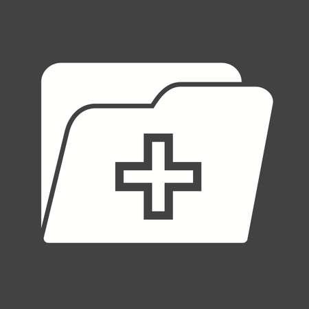 historia clinica: Medicina, salud, ficha icono de imagen vectorial. Tambi�n se puede utilizar para la salud y la ciencia. Adecuado para su uso en aplicaciones web, aplicaciones m�viles y material de impresi�n.