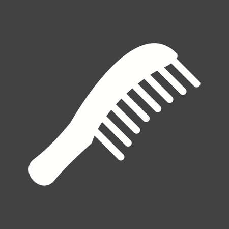 comb hair: Comb hair icon Illustration
