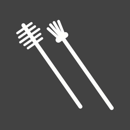 eyebrow: Eyebrow brush icon Illustration
