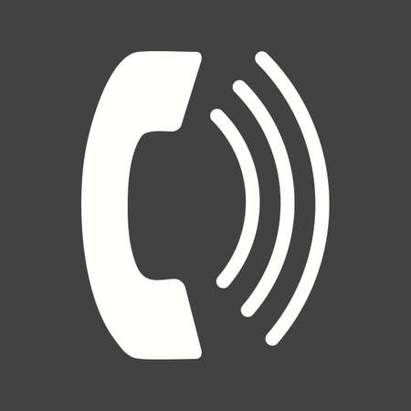 phone and call: Phone call icon Illustration