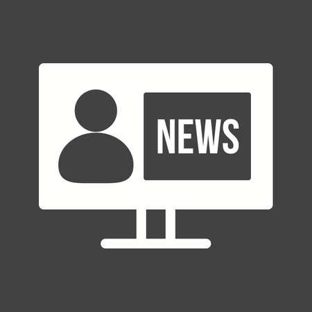 news reporter: News, reporter, journalist icon Illustration