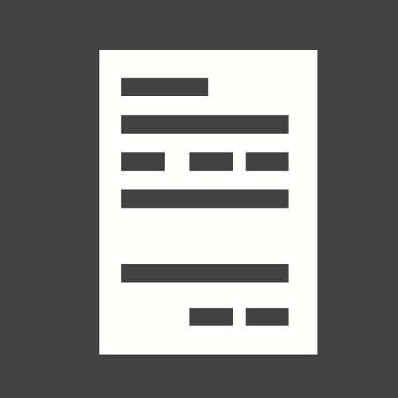 automatic transaction machine: icono de recibo del cajero autom�tico