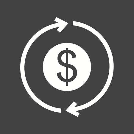 Transaction, dollar bill icon