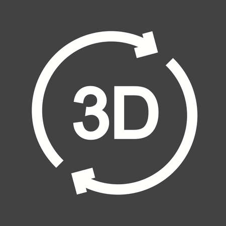 rotate: 3d rotate icon Illustration