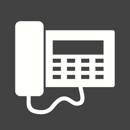 keypad: Telephone, office, dial icon vector image.Can also be used for hotel and restaurant. Suitable for mobile apps, web apps and print media.