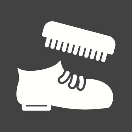shoe repair: Shoe, polish, brush icon vector image.Can also be used for hotel and restaurant. Suitable for mobile apps, web apps and print media.