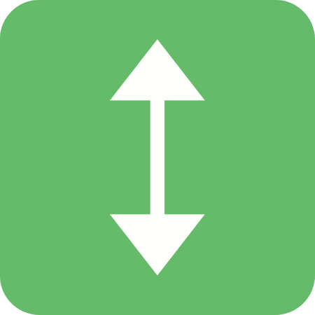 up and down: Arrow, up, down icon vector image. Can also be used for arrows. Suitable for mobile apps, web apps and print media. Illustration