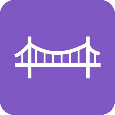 rope bridge: Bridge, suspension, rope icon vector image.Can also be used for building and landmarks . Suitable for mobile apps, web apps and print media.