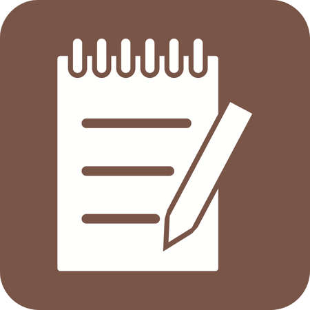 memo pad: Paper, notebook, notepad icon vector image. Can also be used for education and science. Suitable for use on web apps, mobile apps and print media. Illustration