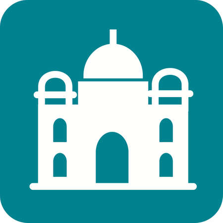 mausoleum: Taj Mahal, india, architecture icon vector image.Can also be used for building and landmarks . Suitable for mobile apps, web apps and print media.
