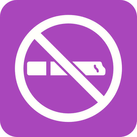 interdiction: Smoking,  addiction, tobacco icon vector image. Can also be used for healthcare and science. Suitable for web apps, mobile apps and print media.