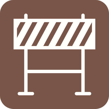 traffic barricade: Barricade, warning, barrier icon vector image. Can also be used for objects. Suitable for web apps, mobile apps and print media. Illustration