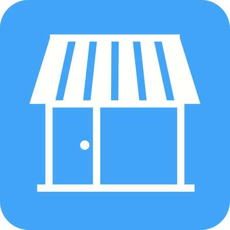 shopping center interior: Shop, center, building icon vector image.