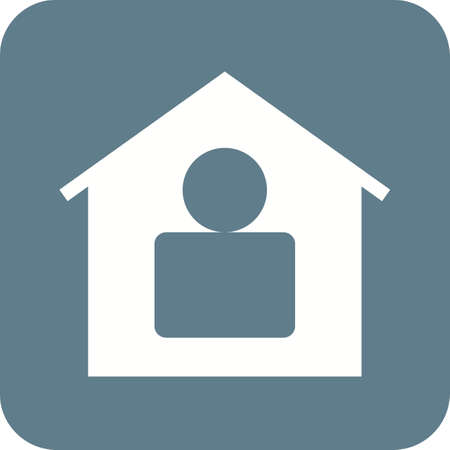 resident: Residence, home, modern icon vector image.Can also be used for housing. Suitable for mobile apps, web apps and print media.