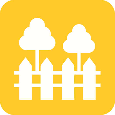 yards: Garden, fork, lawn icon vector image.Can also be used for housing. Suitable for mobile apps, web apps and print media.
