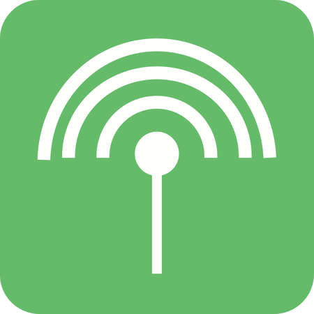 cable tv: Antenna, cable, input icon vector image. Can also be used for material design. Suitable for use on web apps, mobile apps and print media