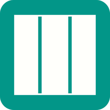 balcony view: Columns, building, view icon vector image.Can also be used for material design. Suitable for mobile apps, web apps and print media.