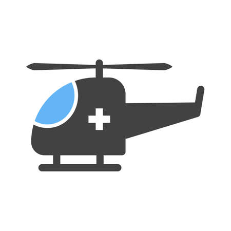airborne vehicle: Helicopter, flight, sky icon vector image. Can also be used for healthcare and science. Suitable for use on web apps, mobile apps and print media. Illustration