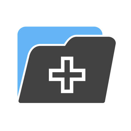medical bills: Medical, health, record icon vector image. Can also be used for healthcare and science. Suitable for use on web apps, mobile apps and print media. Illustration
