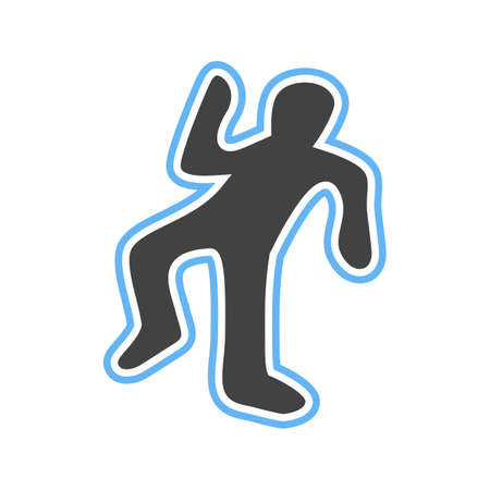 Dead, body, murder icon vector image. Can also be used for healthcare and science. Suitable for use on web apps, mobile apps and print media.