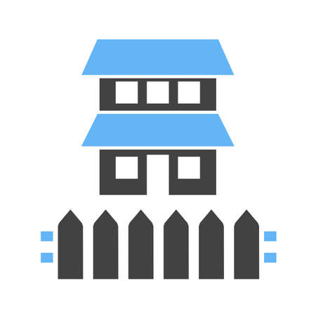 hedge: Fence, house, boundary icon vector image.Can also be used for housing. Suitable for mobile apps, web apps and print media.