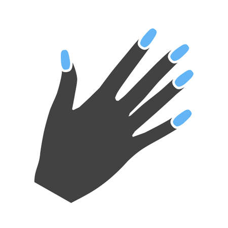 nailpolish: Manicure, nails, polish icon vector image.Can also be used for makeup and accessories. Suitable for web apps, mobile apps and print media.