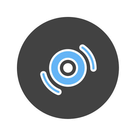 recordable: Disc, cds, dvd icon vector image. Can also be used for IT and communication. Suitable for web apps, mobile apps and print media. Illustration