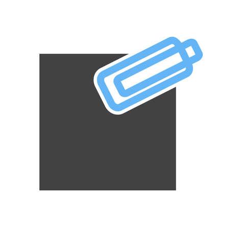 attach: Adjunto, negocios, imagen del icono vector web. También se puede utilizar para la gestión empresarial. Adecuado para su uso en aplicaciones web, aplicaciones móviles y material de impresión.