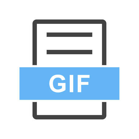 GIF, website, navigation icon vector image. Can also be used for material design. Suitable for mobile apps, web apps and print media.