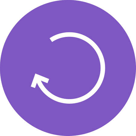 undo: Left, back, undo icon vector image. Can also be used for arrows. Suitable for mobile apps, web apps and print media.