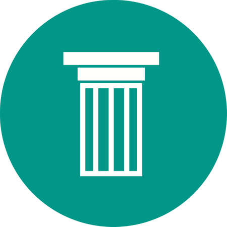 pillars: Columns, pillars, courthouse icon vector image.Can also be used for building and landmarks . Suitable for mobile apps, web apps and print media. Illustration