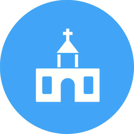 worship service: Church, building, religion icon vector image.Can also be used for building and landmarks . Suitable for mobile apps, web apps and print media.