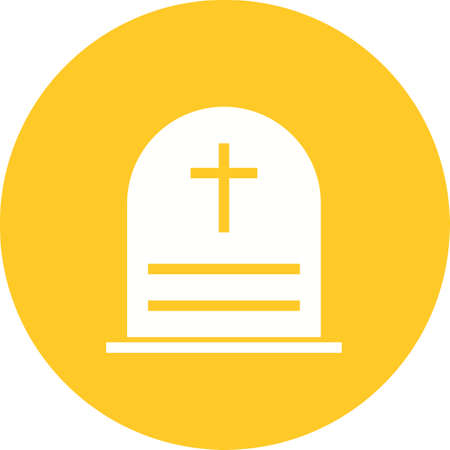 Cemetry, town, building icon vector image.Can also be used for building and landmarks . Suitable for mobile apps, web apps and print media.
