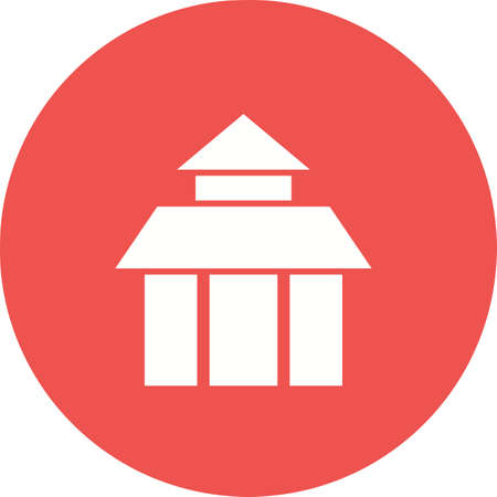 temple of heaven: Temple, china, buddhist icon vector image.Can also be used for building and landmarks . Suitable for mobile apps, web apps and print media. Illustration