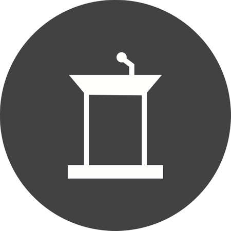 public speaker: Podium, public, speaker icon vector image. Can also be used for education and science. Suitable for use on web apps, mobile apps and print media.