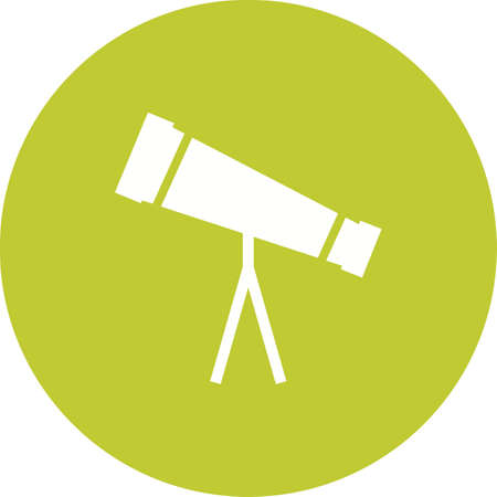 optical image: Telescope, binoculars, optical instrument icon vector image. Can also be used for education and science. Suitable for web apps, mobile apps and print media.
