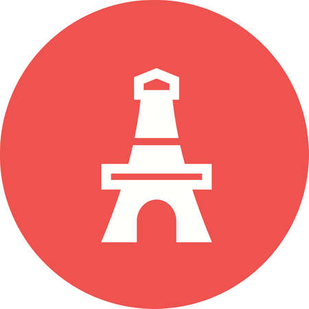 eifel: Tower, paris, eiffel icon vector image.Can also be used for building and landmarks . Suitable for mobile apps, web apps and print media.