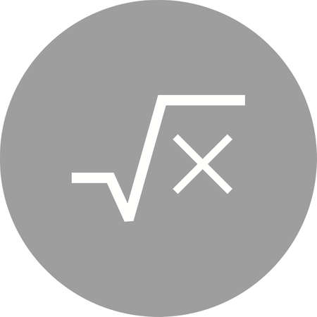 quadratic: Square, root, equation icon vector image. Can also be used for education and science. Suitable for use on web apps, mobile apps and print media.