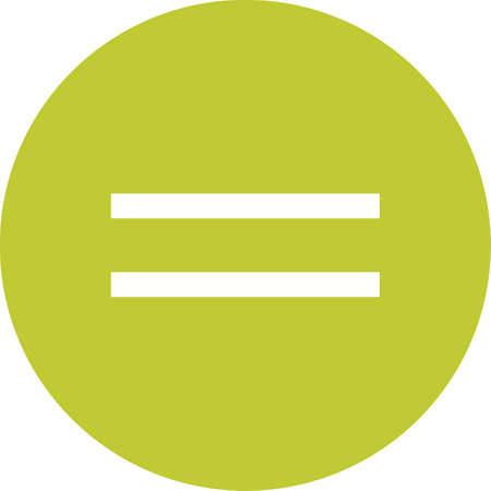 sign equals: Sign, equal, equality icon vector image.Can also be used for education and science. Suitable for mobile apps, web apps and print media. Illustration