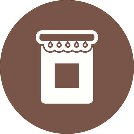 iconset: Jam, jar, food icon vector image.Can also be used for food iconset. Suitable for mobile apps, web apps and print media. Illustration