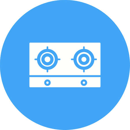gas appliances: Stove, gas, cooking icon vector image.Can also be used for home electronics and appliances. Suitable for mobile apps, web apps and print media.