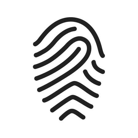 odcisk kciuka: Fingerprint, druk, unikalne ikony wektorowe image.Can być również wykorzystywane do biura. Nadaje się do aplikacji mobilnych, aplikacji internetowych i mediach drukowanych.